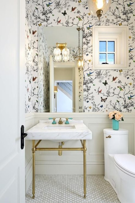 Perfect Removable Wallpaper That Can Be Used In Bathrooms